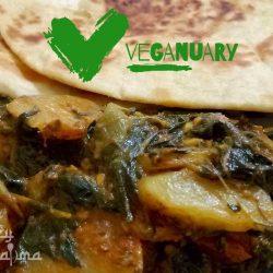 Halima Spinach & Potatoes Recipe Veganuary