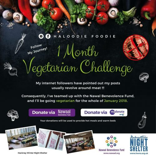 HaloodieFooedie Vegetarian Nawaal January Charity