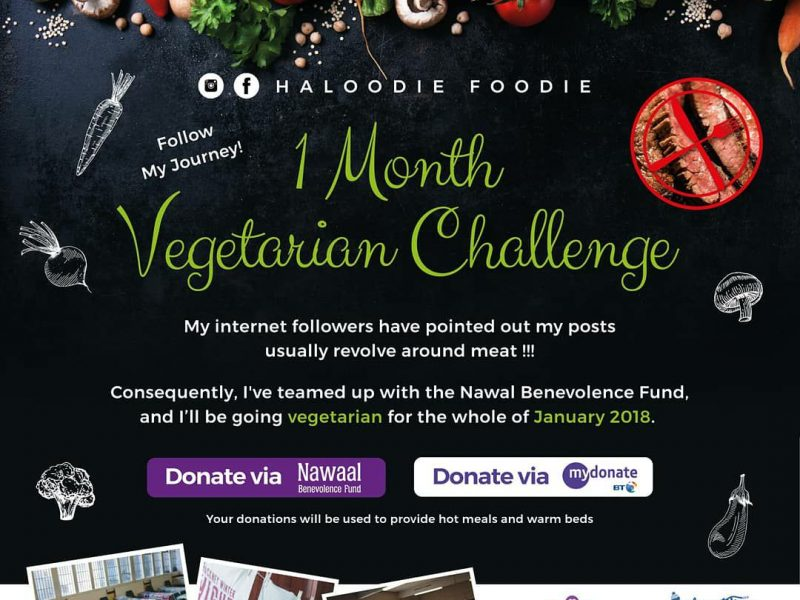 HaloodieFooedie Vegetarian Nawaal January Charity