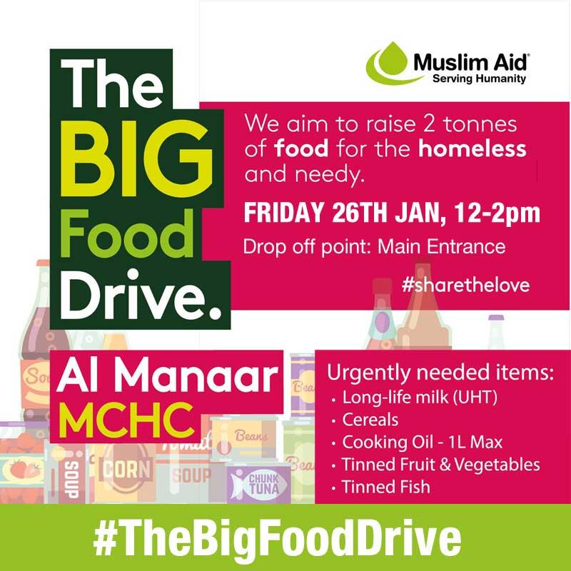 Muslim Aid Food Drive Al- Manaar