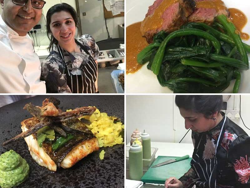 Masterchef Winner 2017 Saliha Mahmood & double Michelin Star Chef Atul Kochhar