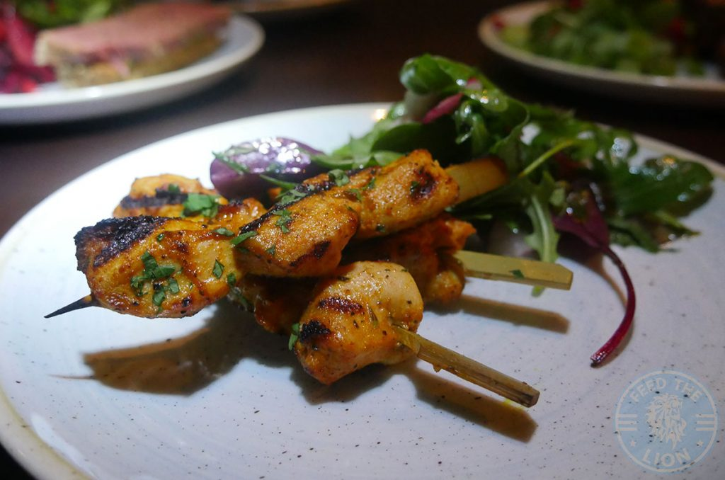 Drunch Regents Park London Restaurant Halal Mayfair chicken kebab skewers