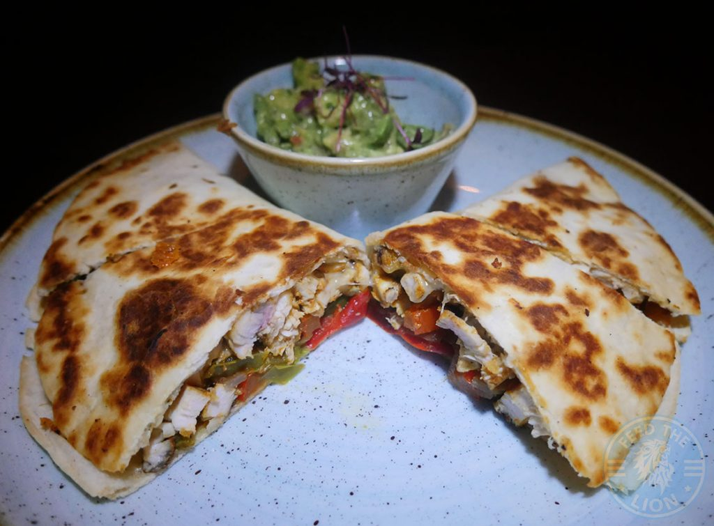Drunch Regents Park London Restaurant Halal Mayfair Chicken Fajita Quesadilla