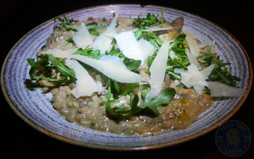 Drunch Regents Park London Restaurant Halal Mayfair Mushroom Risotto