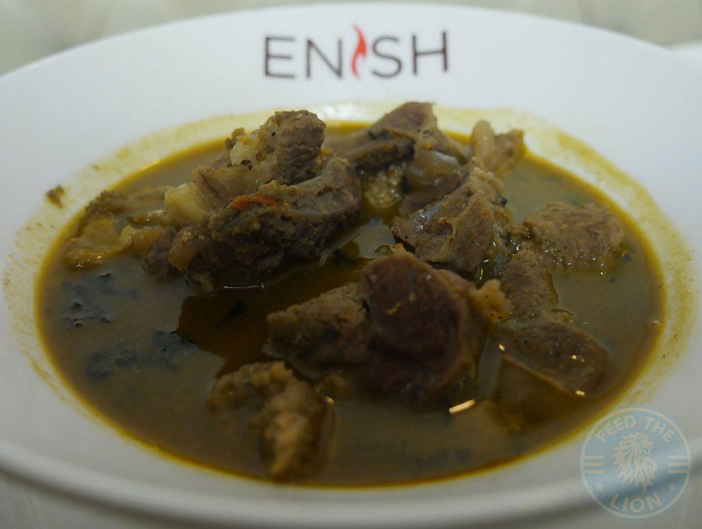 Enish Nigerian Finchley Restaurant Halal lamb fish goat soup