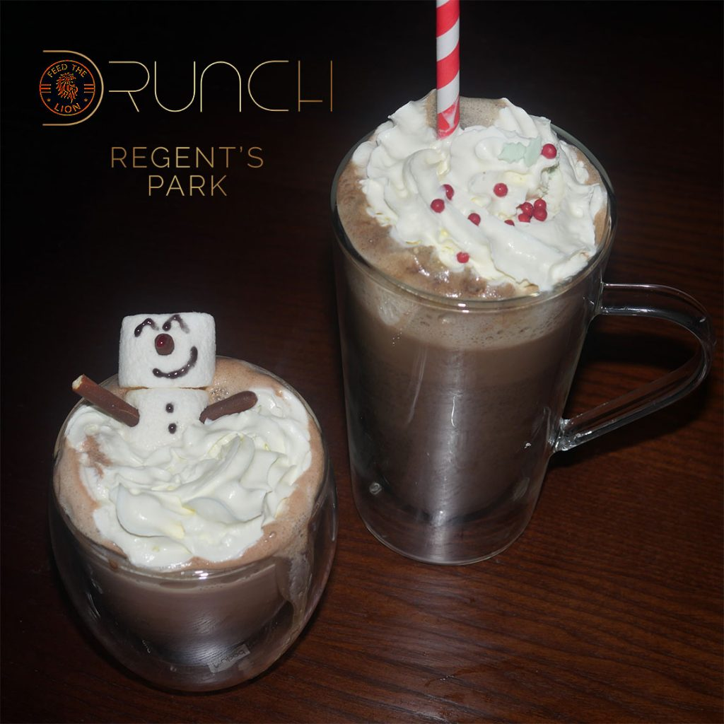 Drunch Regents Park London Restaurant Halal Mayfair drinks hot chocolate
