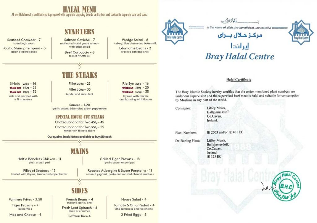 The Steak Restaurant Hatch End Halal Certified