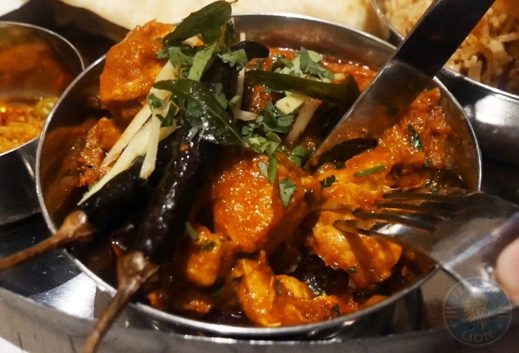 Chicken Thali Ho Surberton Halal Indian Restaurant London Curry Awards