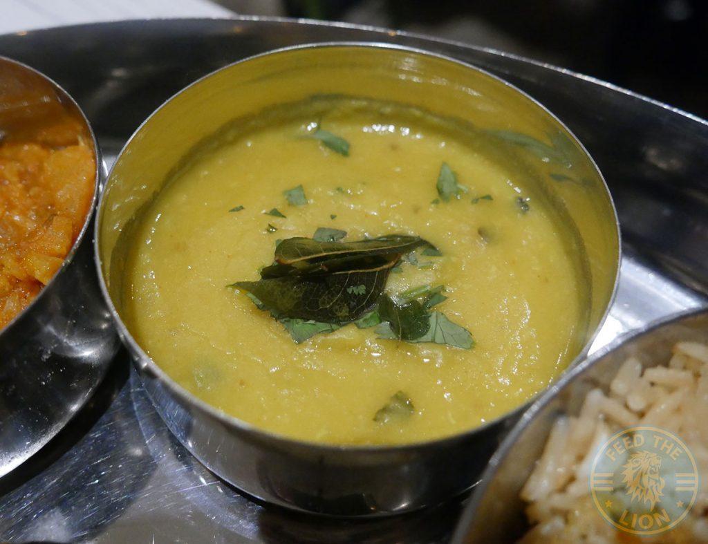 Lentil daal Thali Ho Surberton Halal Indian Restaurant London Curry Awards
