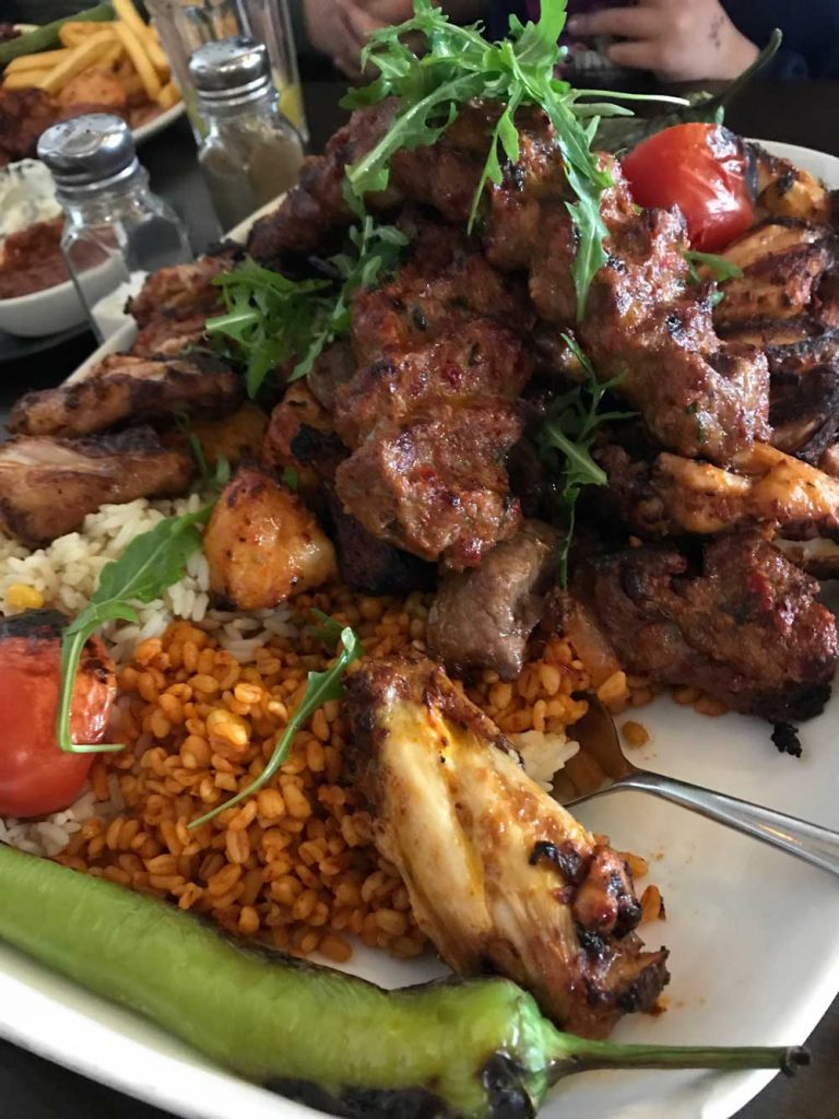 Family Platter Adana Kofte Chicken Lamb Ribs Antep Kitchen Old Wolverton Turkish Milton Keynes