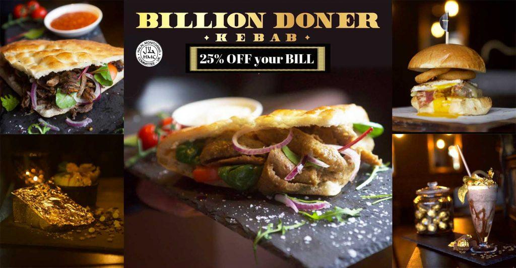 Billion Doner Kebab Birmingham Burgers Waffles Milkshakes