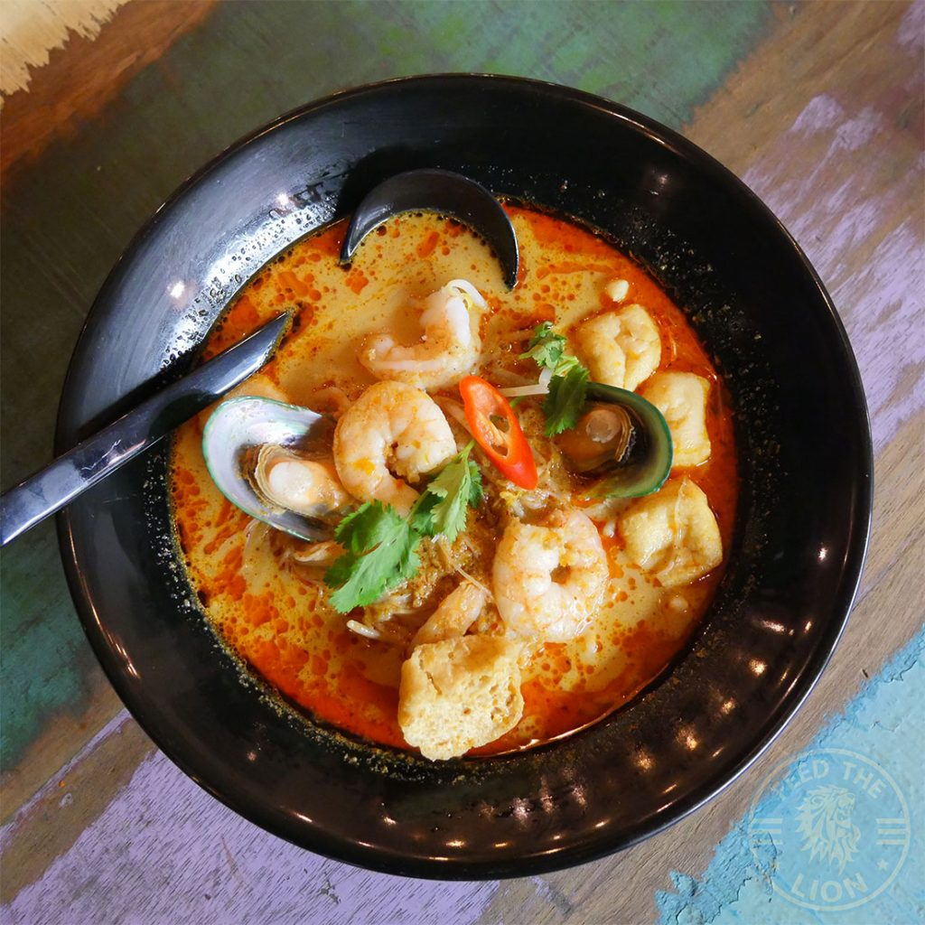 noodle curry Ekachai South East Asian Kings Cross Chinese halal restaurant Seafood Curry Laksa