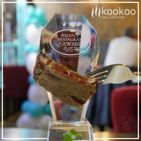 Kookoo grill and seafood halal kebab Persian Middle Eastern Food restaurant Surbiton best middle eastern asian restaurant award 2018