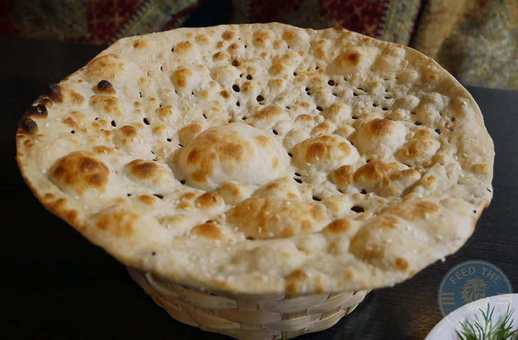 Naan Bread KooKoo Grill Seafood Middle Eastern Persian Surbiton London