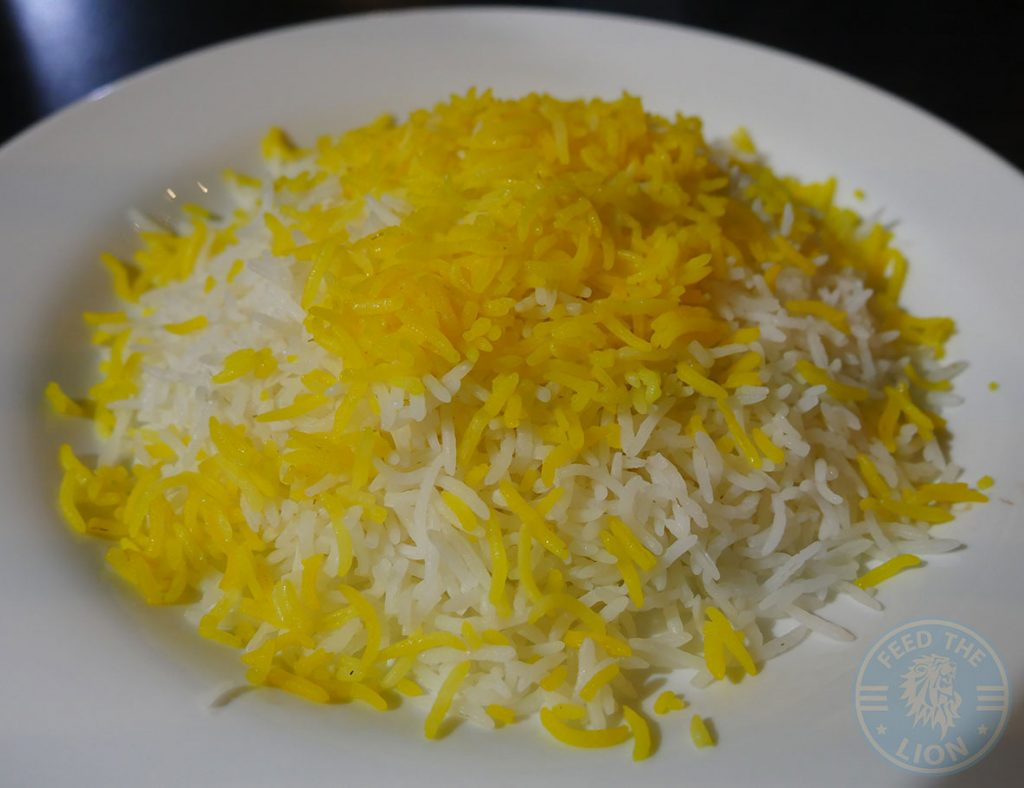 Saffron Rice KooKoo Grill Seafood Middle Eastern Persian Surbiton London