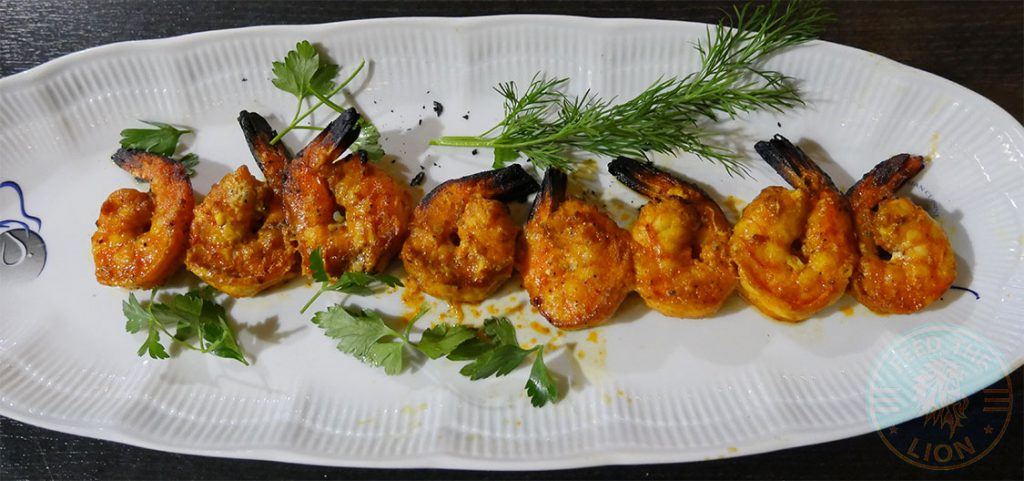 King Prawn KooKoo Grill Seafood Middle Eastern Persian Surbiton London