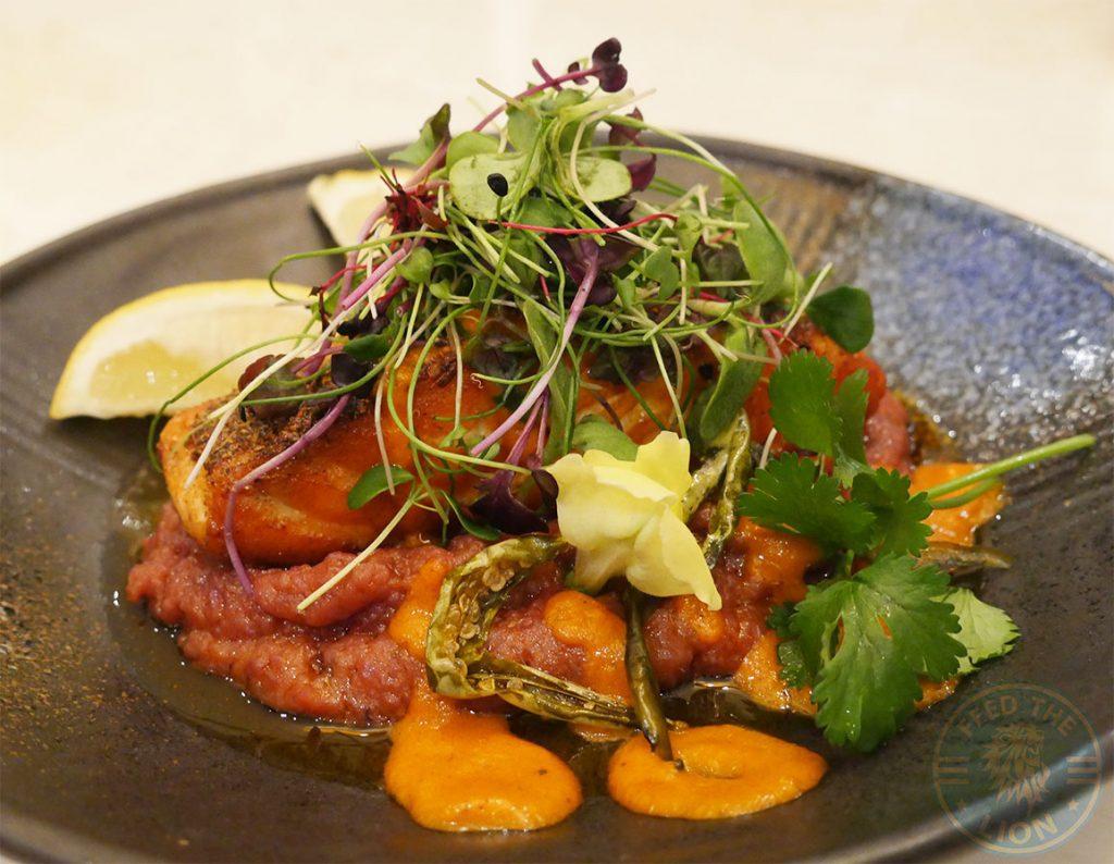 Salmon Seafood Matsya Contemporary Fine Dining Mayfair Indian London Halal