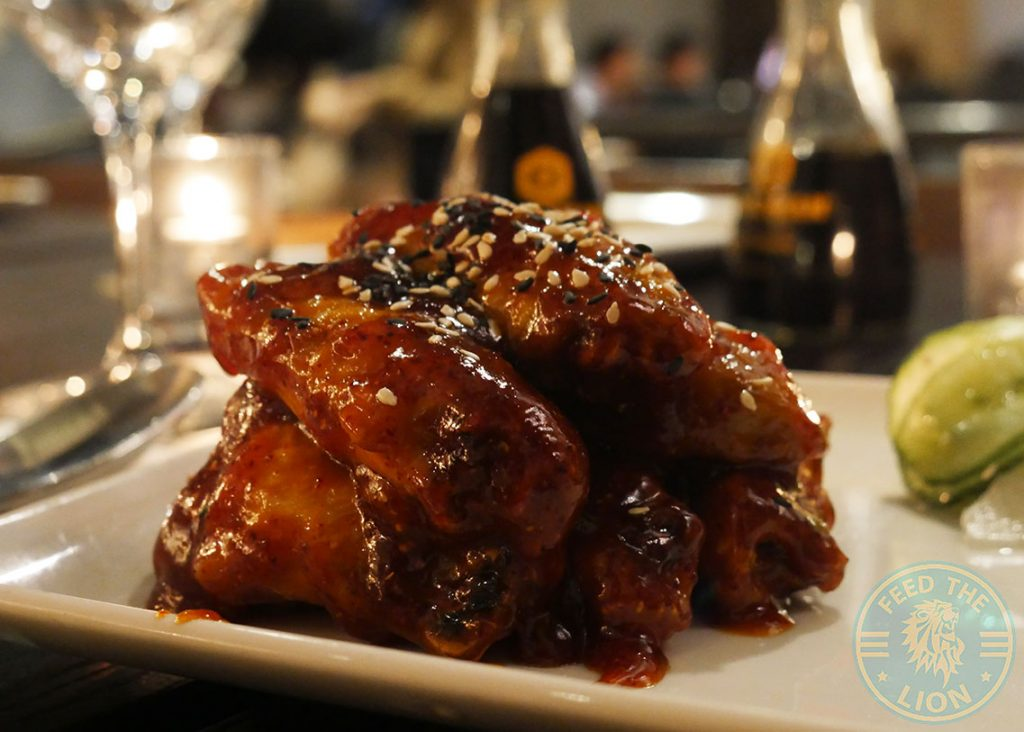 chilli jam Chicken wings PF Chang's asian table London Halal Restaurant Leicester Square Food