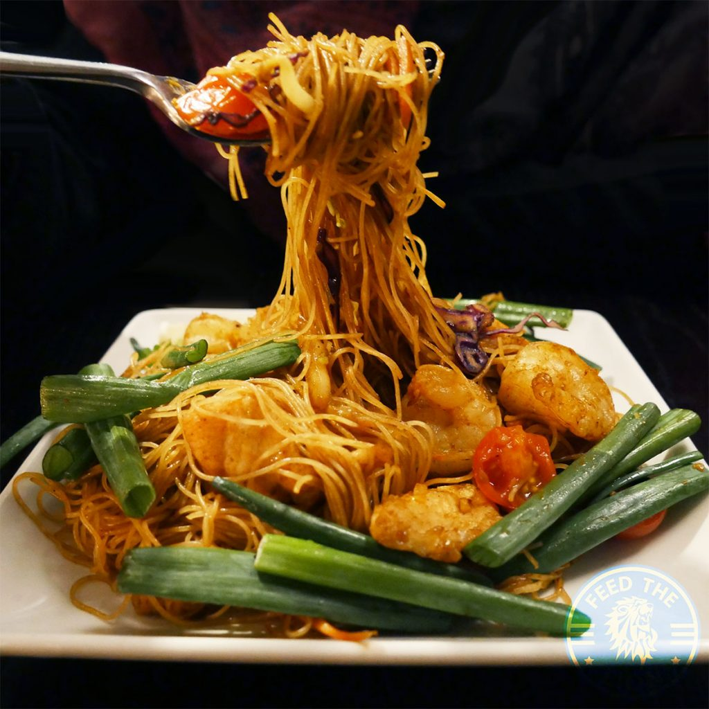 Chinese Singapore street noodles PF Chang's asian table London Halal Restaurant Leicester Square Food