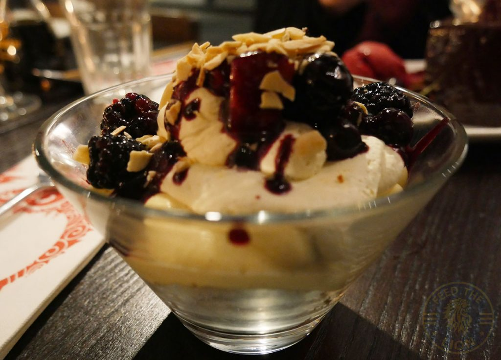 Berry Triffle PF Chang's asian table London Halal Restaurant Leicester Square Food