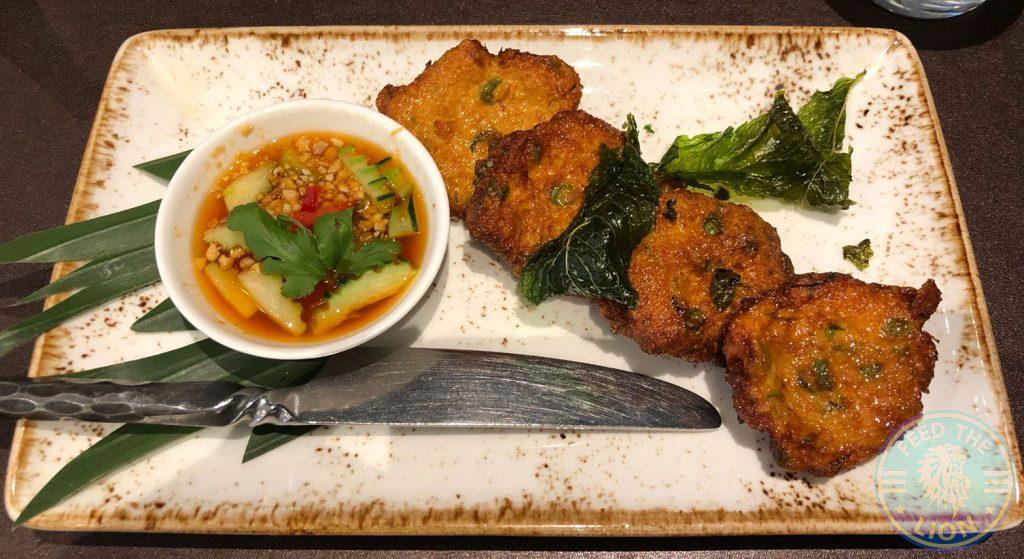 Patara Thai Soho Restaurant Halal Spiced fish cakes