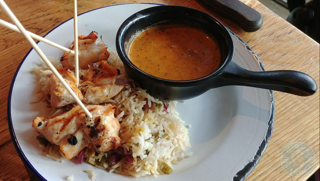 Mild Coconut Curry with Chicken Breast Mini-Skewers Cabana Westfield London