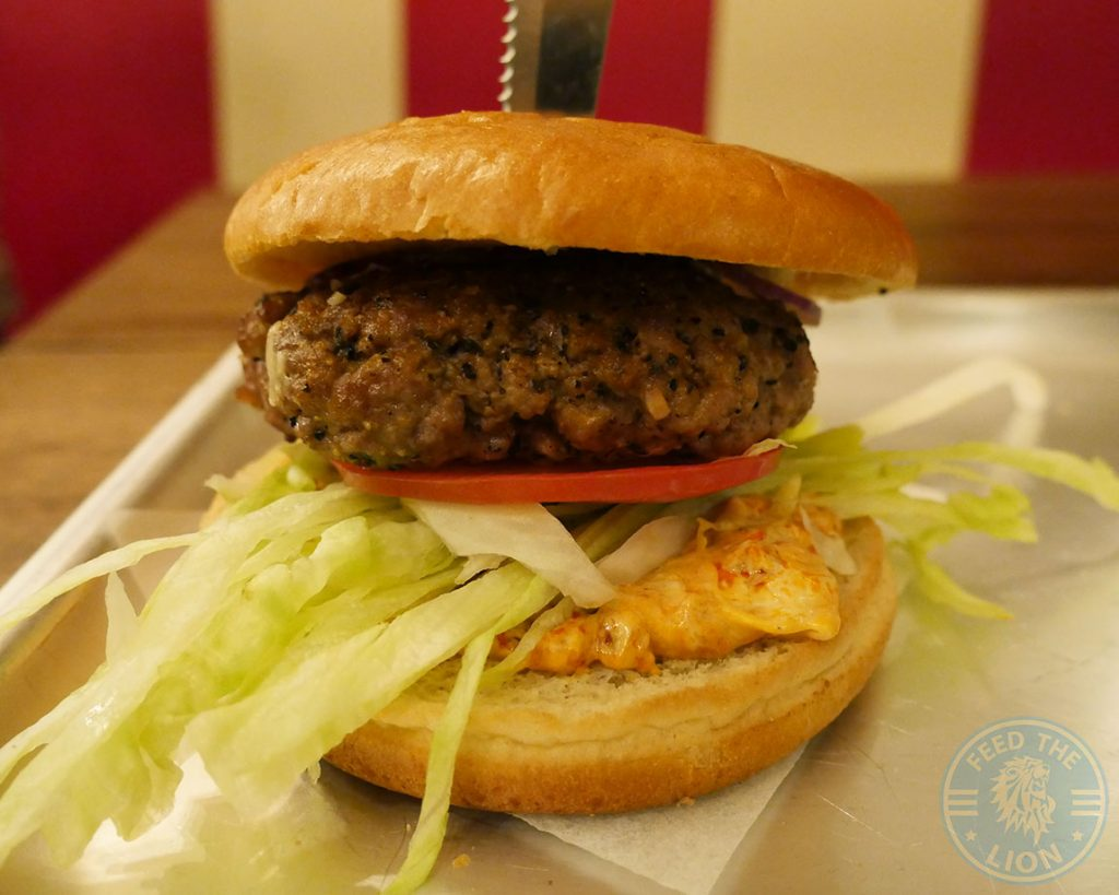 Lamb Burger Dada's Diner Acton London American