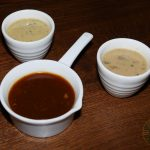 sauces Elvet steakhouse Romford East London Halal Food Wagyu Burger