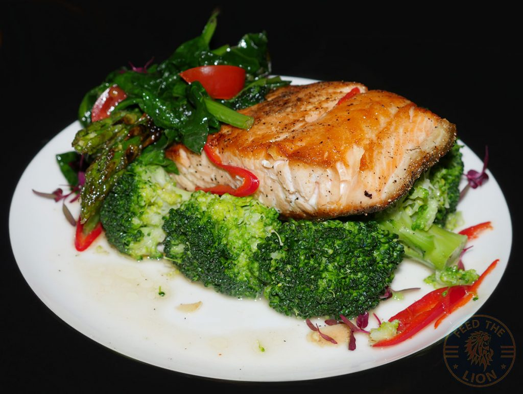 Roasted Salmon seafood Elvet steakhouse Romford East London Halal Food restaurant