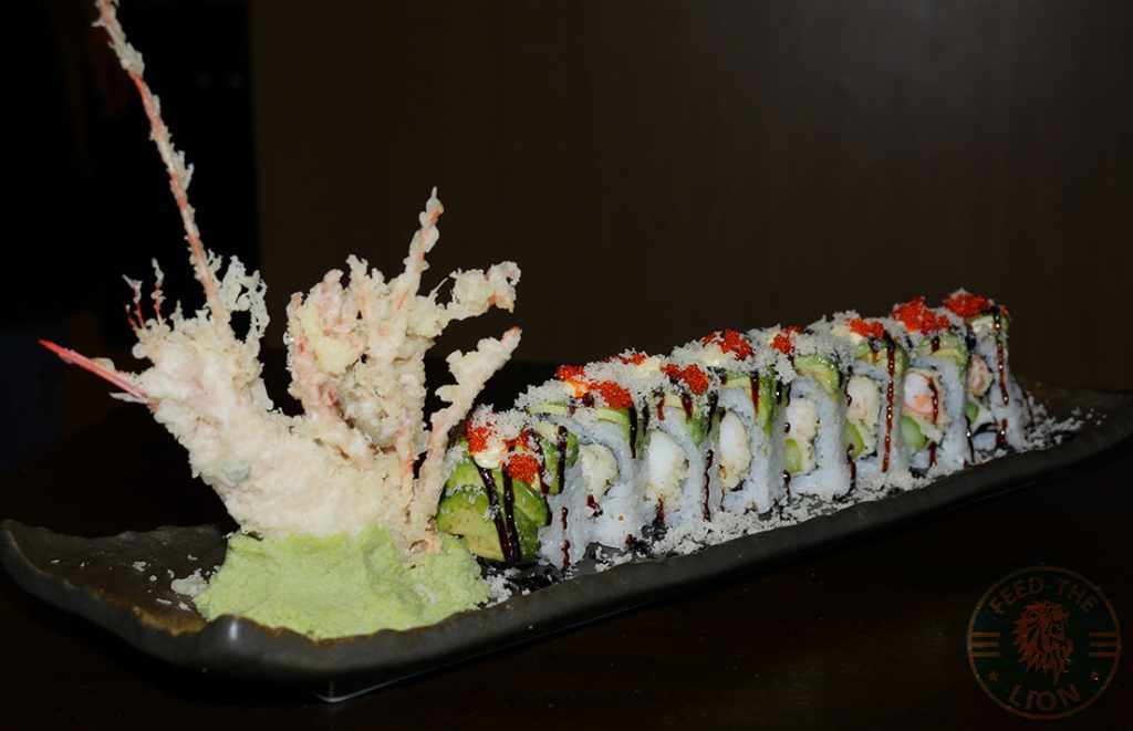 dragon roll sushi C&R Izakaya Japanese London Halal Restaurant Bayswater