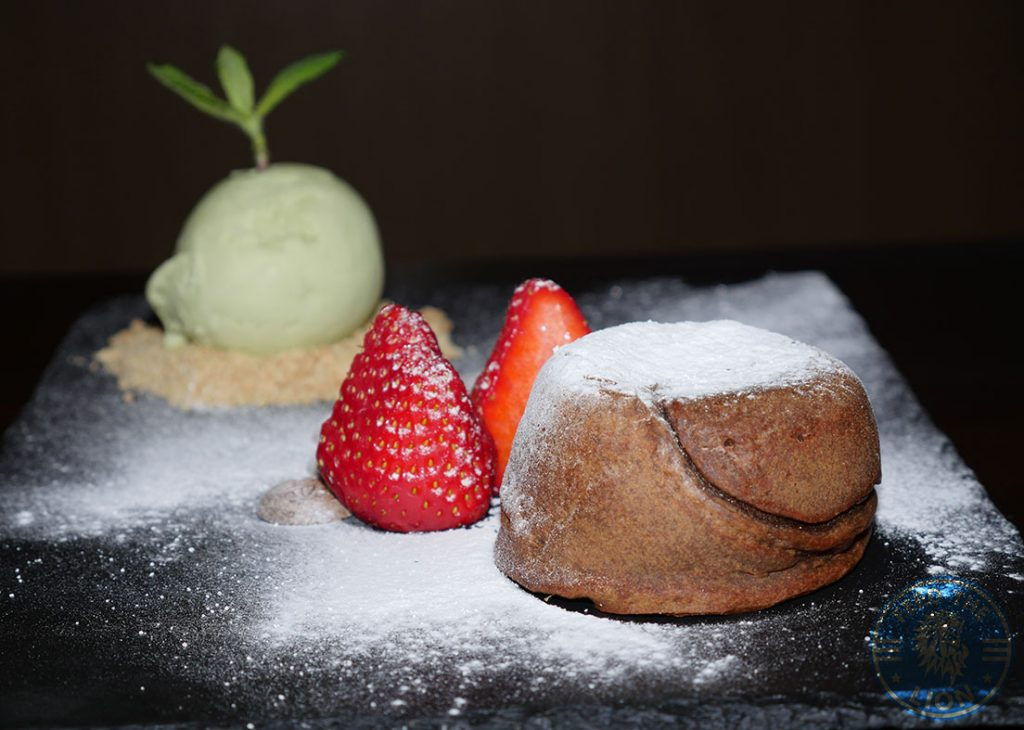 dessert fondant ice cream C&R Izakaya Japanese London Halal Restaurant Bayswater