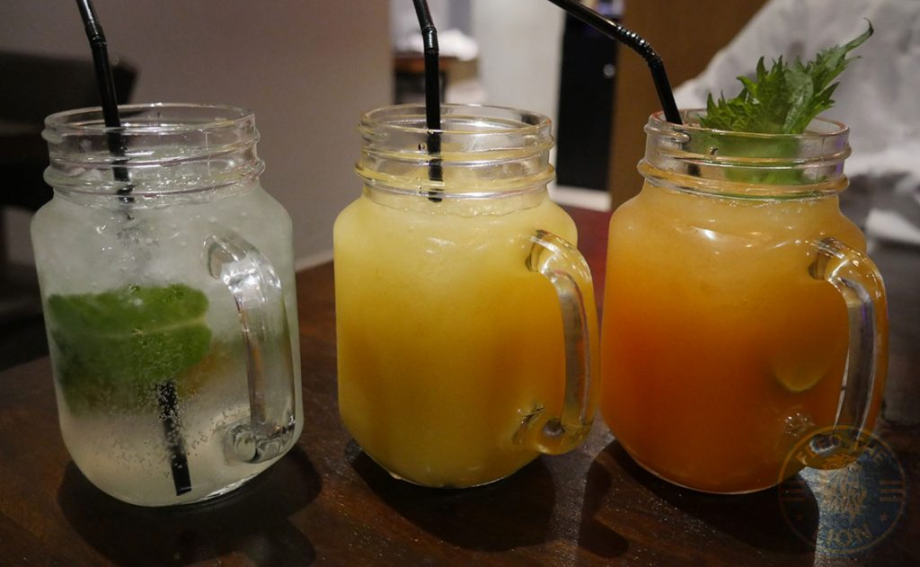 drinks beverages mocktails C&R Izakaya Japanese London Halal Restaurant Bayswater