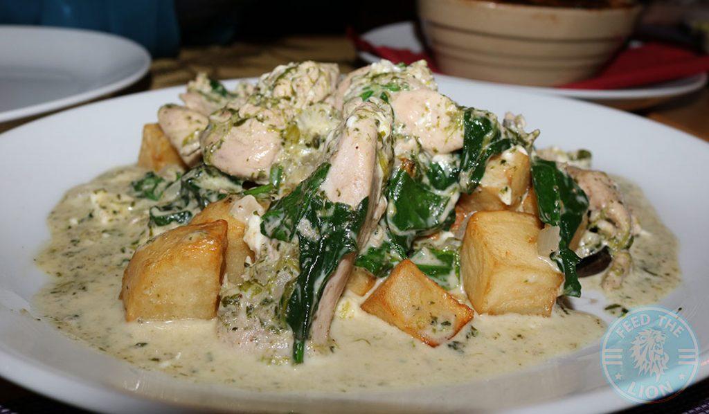 Chicken Spinach Sofra Restaurant Mediterranean Greek Lebanese West Didsbury Manchester