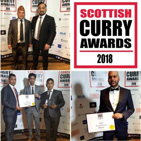 Scottish Curry Awards 2018 Winners