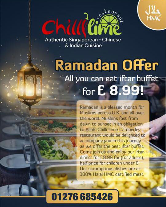 Chilli Lime Ramadan Halal Menu