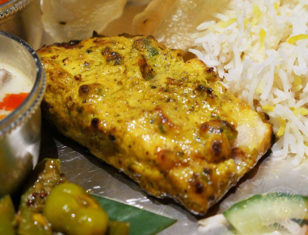 Thali fish Sea Trout curry Chokhi Dhani Indian Halal restaurant Battersea