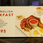 English Breakfast Chi Kitchen Halal Pan Asian London restaurant in Debenhams Oxford Street.