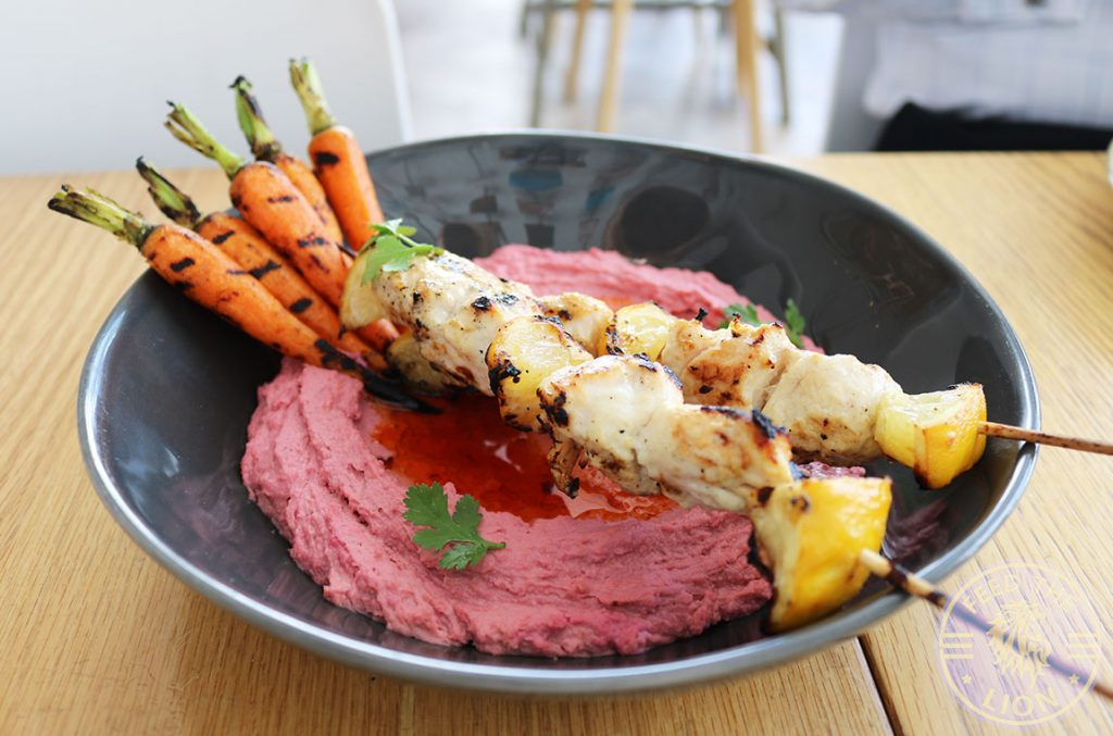 Jar Kuwait Halal Food Restaurant Chargrilled Chicken Beetroot Hummus