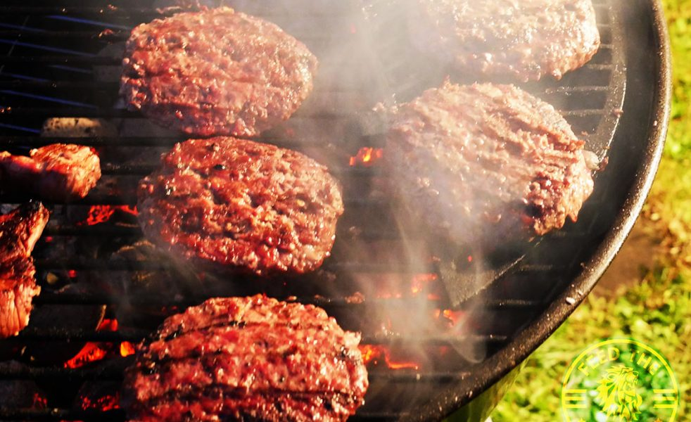 Sizzlingly good beef barbecued burgers