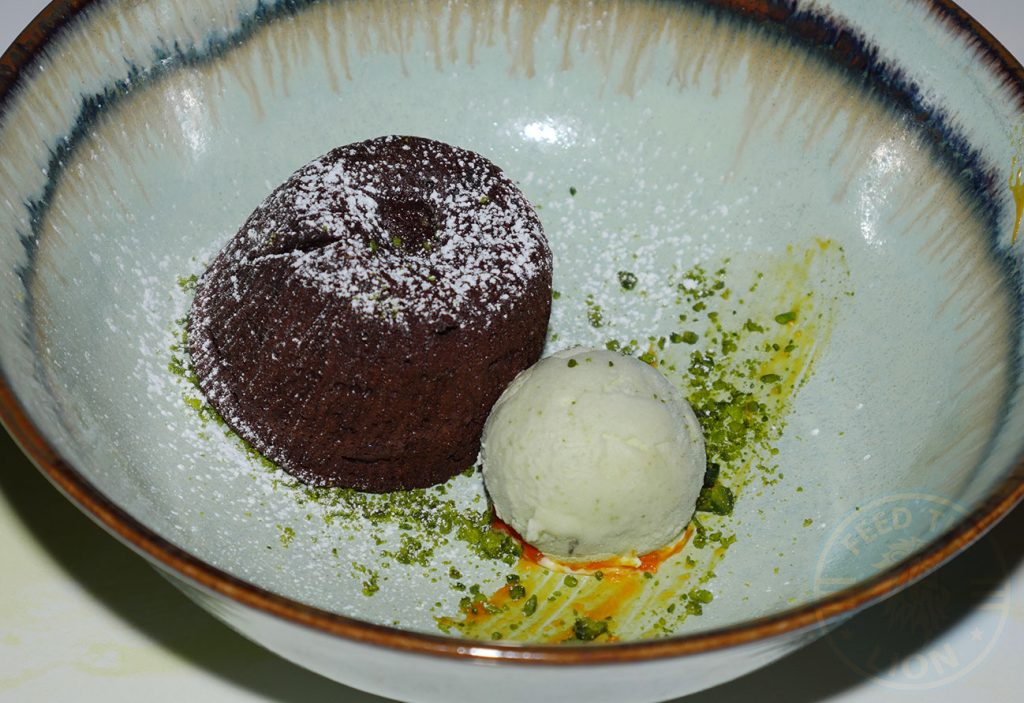Hankies Restaurant Marble Arch Indian Curry Dessert Chocolate Fondant Halal