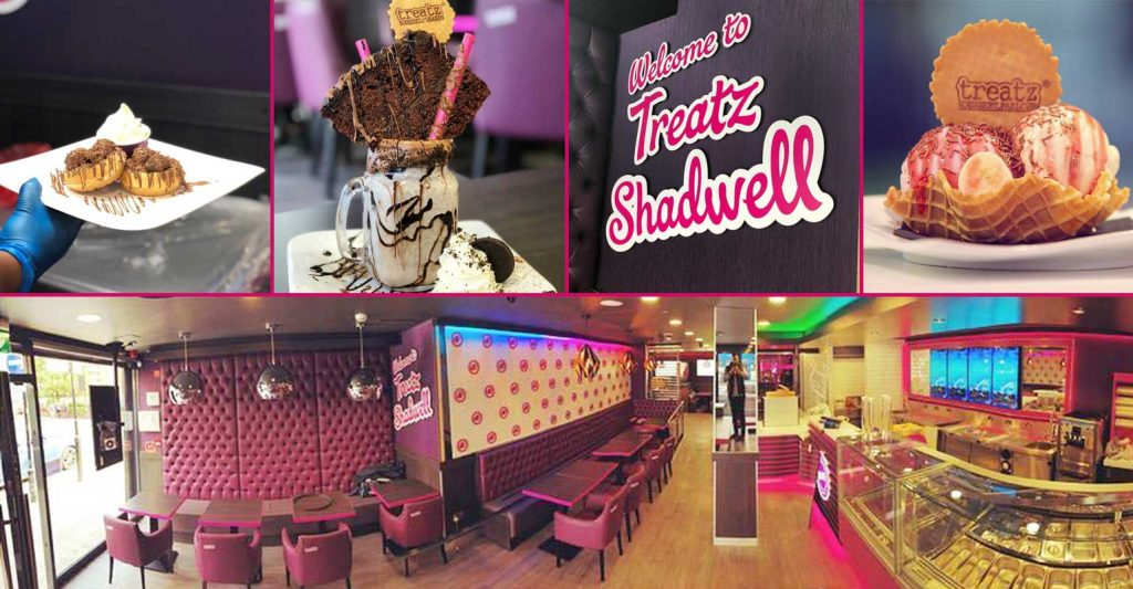 Treatz desserts ice cream waffles cakes milkshakes shadwell london