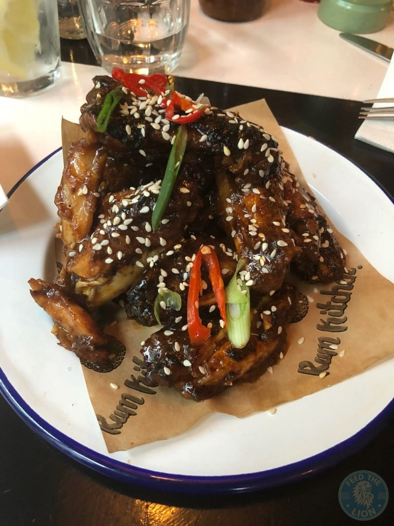 Rum Kitchen Halal Kingly Court London Restaurant chicken wings jerk