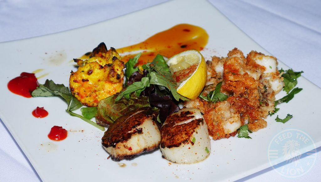 Chakra Restaurant Indian Kinsington London Curry Sea Scallop Prawns
