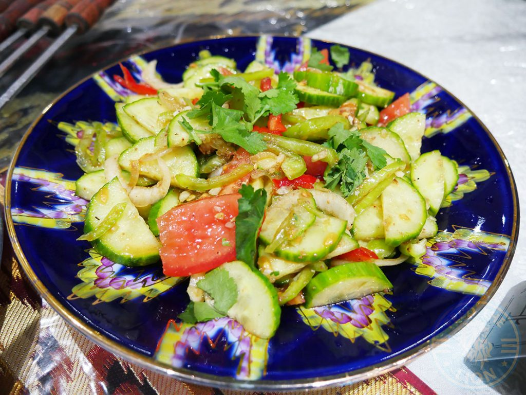 Etles Uyghur Uighur Restaurant Chinese Walthamstow London Xiangxing salad