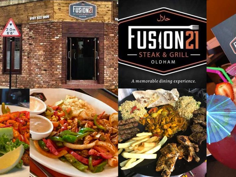 fusion 21 steak oldham Halal restaurant
