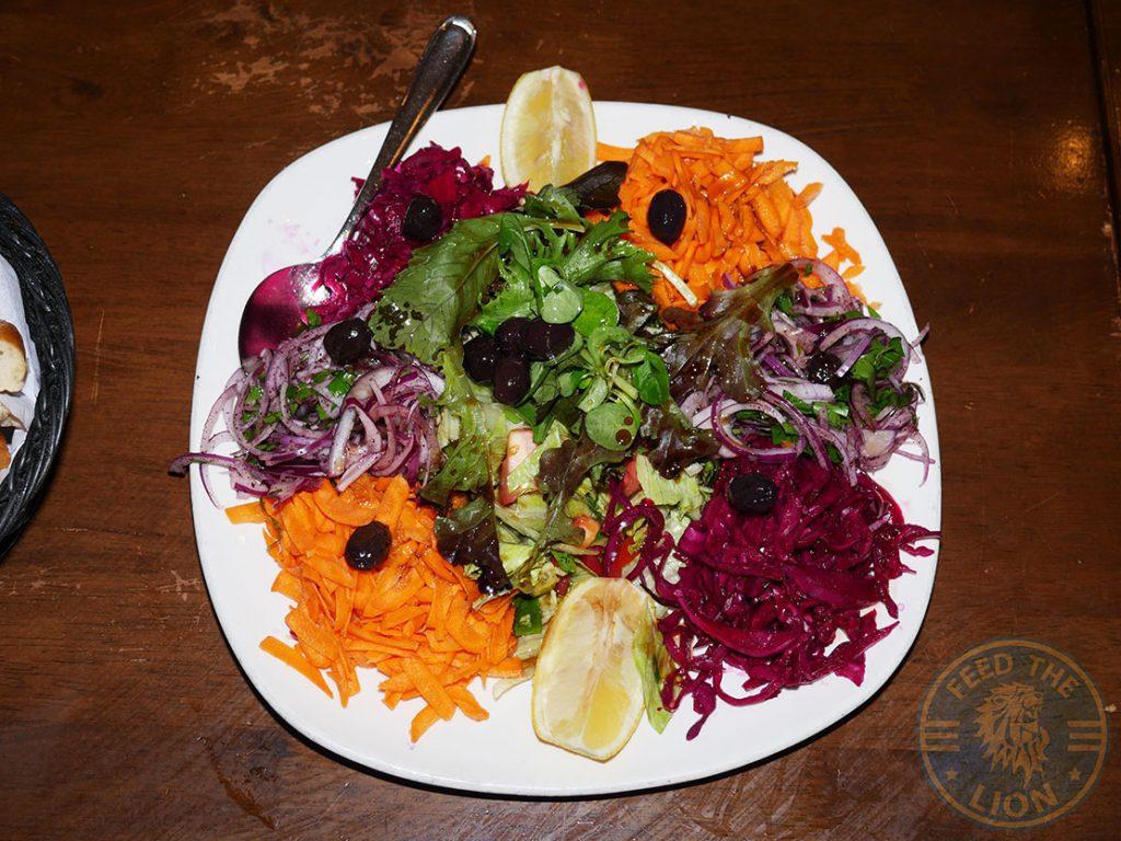 Kervan sofrasi Turkish Kebab House Halal Edmonton salad