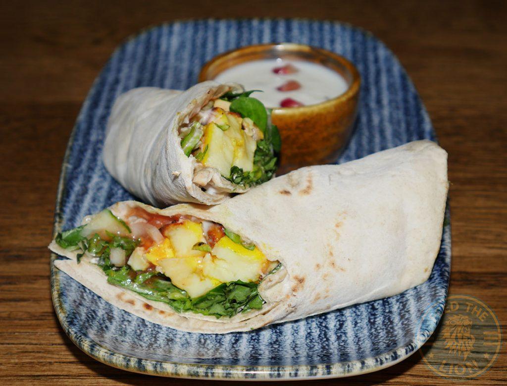 ZeeZain Indian Halal restaurant Kensington, London Paneer wrap