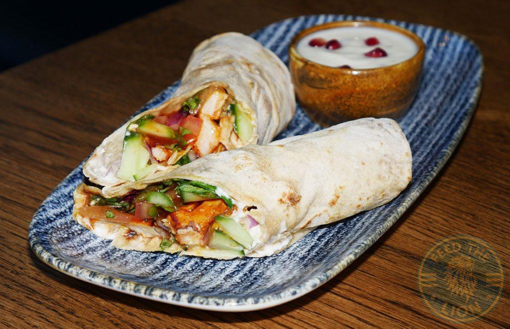 ZeeZain Indian Halal restaurant Kensington London Chicken Wrap