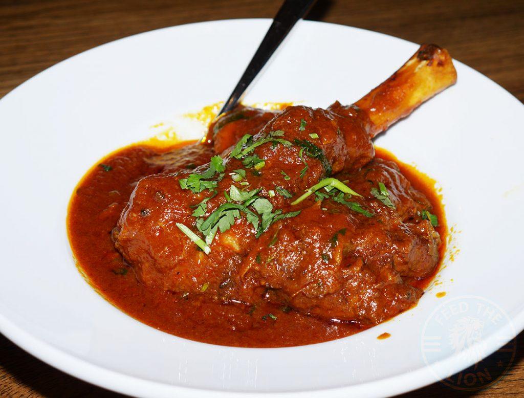 ZeeZain Indian Halal restaurant Kensington London Lamb Shank Rogan Josh