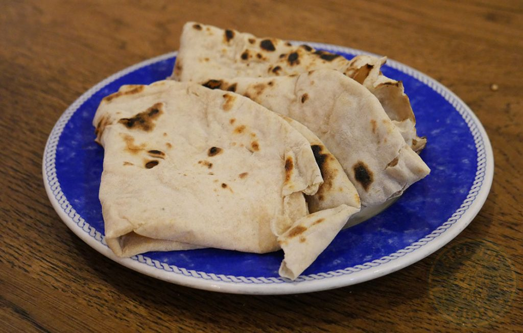 ZeeZain Indian Halal restaurant Kensington London Naan Bread